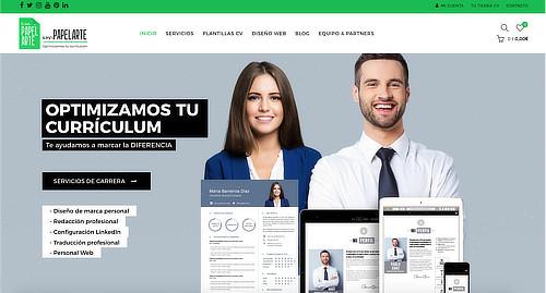 currículum, diseño, página web, linkedin